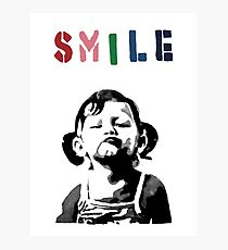 Banksy - SMILE Photographic Print