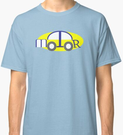 Car made of Letters from word Motor Classic T-Shirt