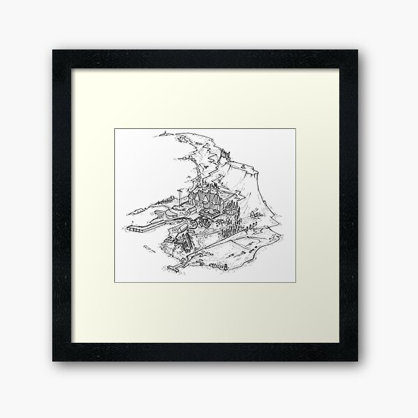 Raasay- Exploded Framed Art Print