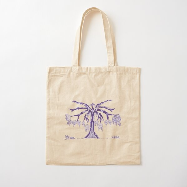 M.I. #123 |☽| Frozen Forest Fragment Cotton Tote Bag