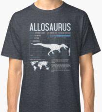 Allosaurus Dinosaur Science Facts  Classic T-Shirt