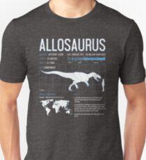 Allosaurus Dinosaur Science Facts  Unisex T-Shirt