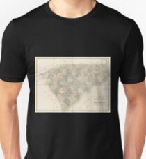 0154 Railroad Maps Map of North and South Carolina exhibiting the post offices post roads canals rail roads c By David H Burr Late topographer to the Post Office Geographer T-Shirt