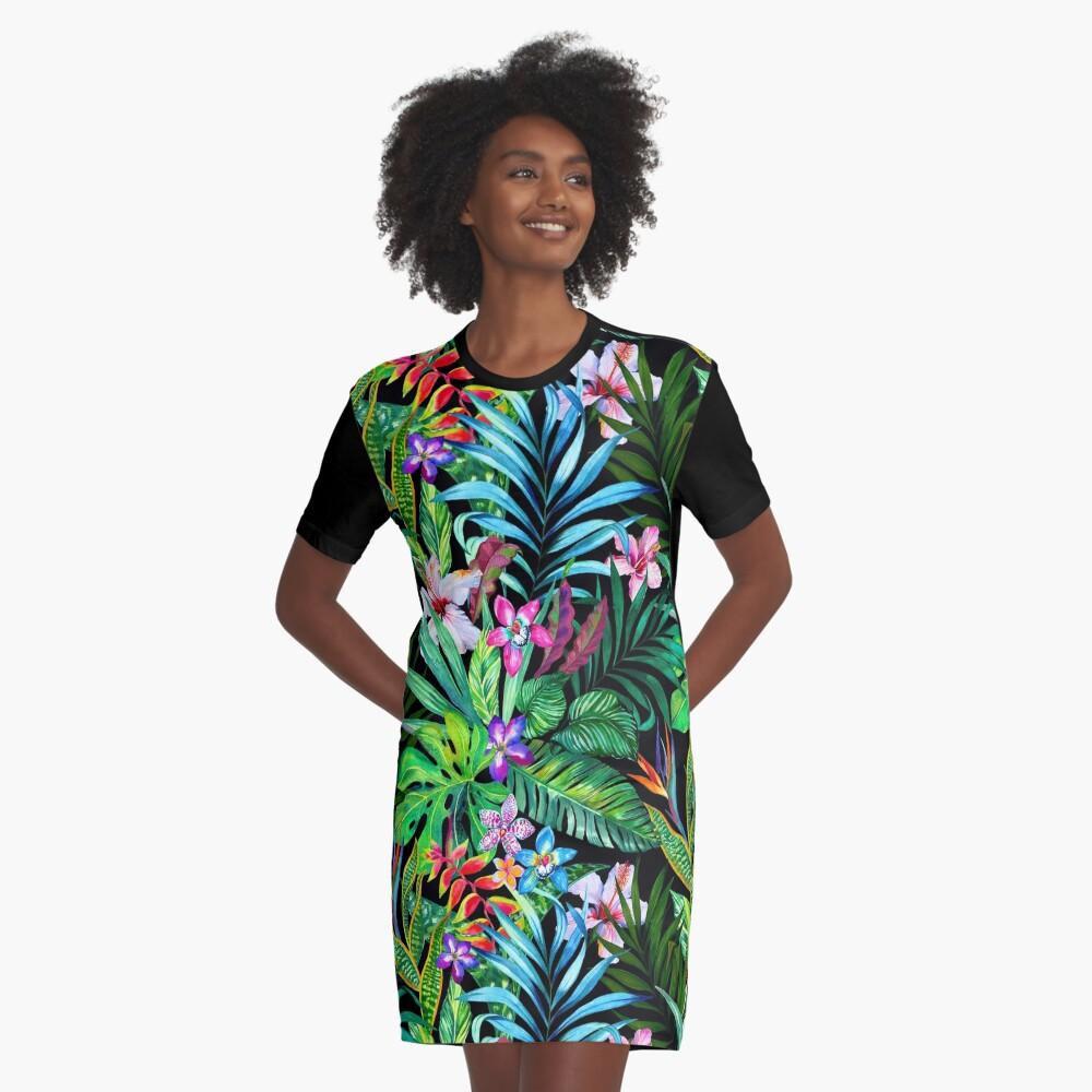 Tropisches Fest T-Shirt Kleid