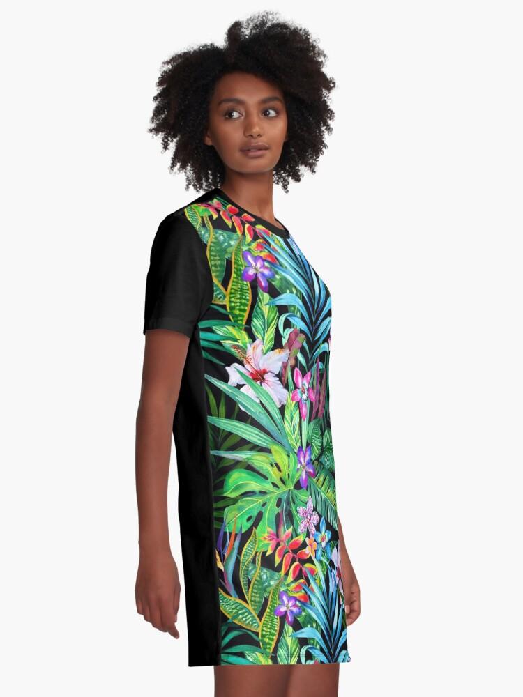 Alternative Ansicht von Tropisches Fest T-Shirt Kleid