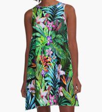 Tropisches Fest A-Linien Kleid