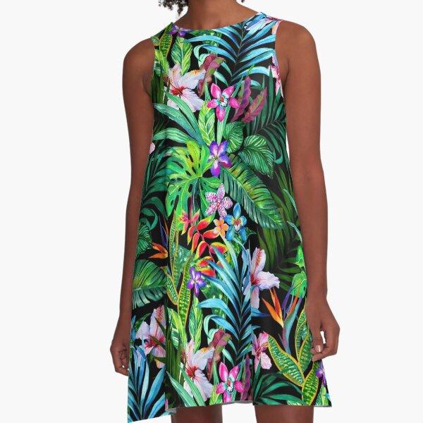Tropical Fest A-Line Dress