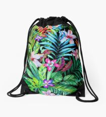 Tropical Fest Drawstring Bag