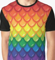 Dragon Scales (rainbow) Graphic T-Shirt