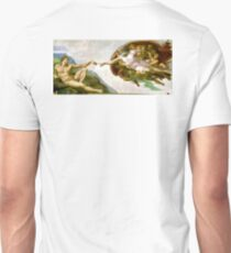 Michelangelo, The Creation of Adam, 1510, Genesis, Ceiling, Sistine Chapel, Rome, Touch of God T-Shirt