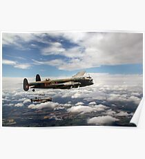 617 Squadron Tallboy Lancasters Poster