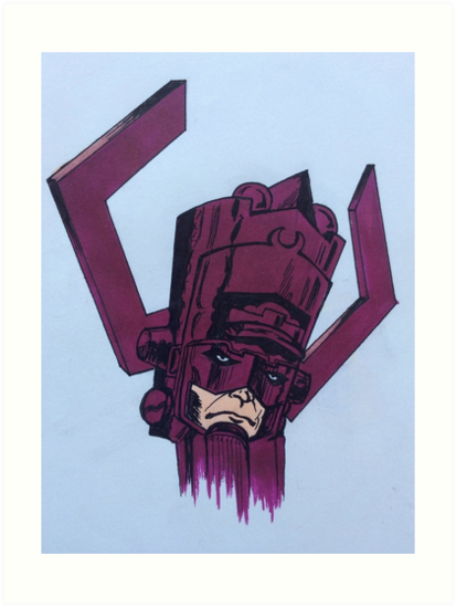 Helmet Of Galactus Art Prints By Slakin Redbubble