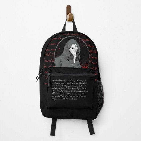 SCP-040 Plague Doctor SCP Foundation Quote Backpack