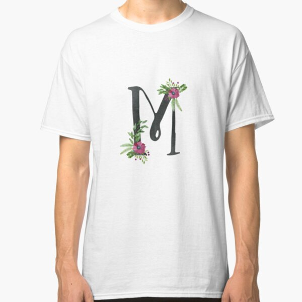 Monogram M with Floral Wreath Classic T-Shirt