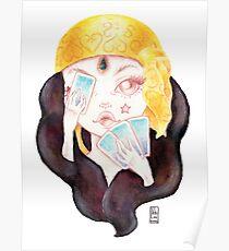Tarot Gypsy Girl Poster