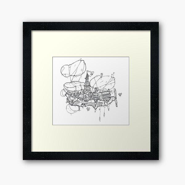 Flying City Framed Art Print