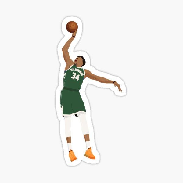 Giannis Antetokounmpo Milwaukee Bucks Sticker