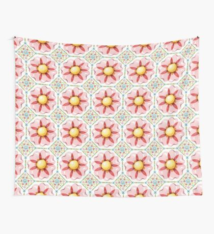 Pink Flower Boho Chic Wall Tapestry