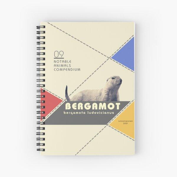 The Black-Tailed Bergamot Spiral Notebook