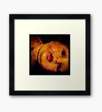 Creepy Vintage Doll  Framed Print