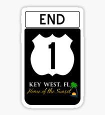 Key West Highway 1 Sticker