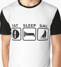 Eat Sleep Sail Graphic T-Shirt