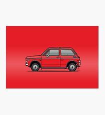 Honda N600 Red Kei Car Photographic Print