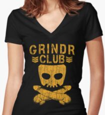 Grindr Club Women's Fitted V-Neck T-Shirt