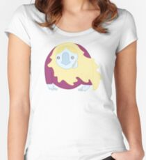 Blond Hairy Ghost Women's Fitted Scoop T-Shirt