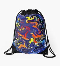 Slothamius V1 - digital abstract Drawstring Bag
