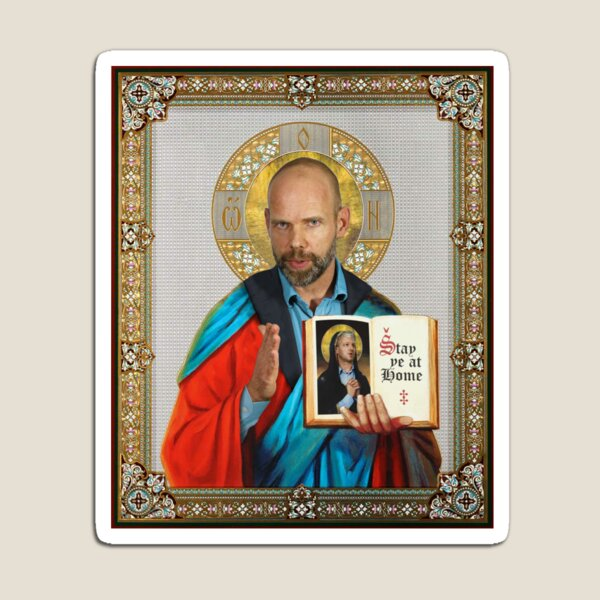 Saint Jeroen COVID Commander  Magnet