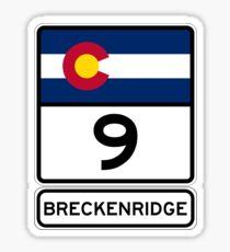 CO-9 Breckenridge Colorado - Road Sign Sticker
