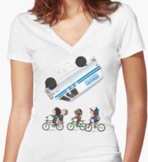 STRANGER PEANUTS Women's Fitted V-Neck T-Shirt
