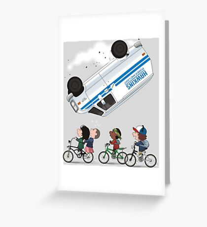 STRANGER PEANUTS Greeting Card