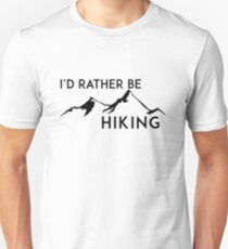 WANDERN ICH WÜRDE WANDERN WANDERER BERGE ID GEOCACHING WANDERN Unisex T-Shirt