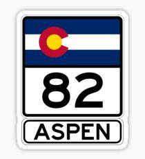 CO-82 - Aspen, Straßenschild Aspen Sticker