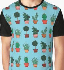 Plant Doodles Graphic T-Shirt