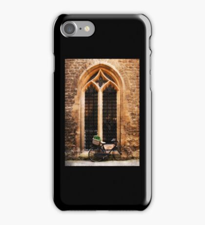The Vaults Garden Cafe Bicycle, Oxford, England iPhone Case/Skin