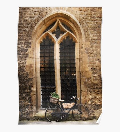 The Vaults Garden Cafe Bicycle, Oxford, England Poster