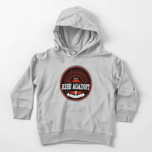 Rise Against -  Circular badge graphic. Awesome punk rock / alternative band. Long forgotten Sons. Est 1999. Toddler Pullover Hoodie