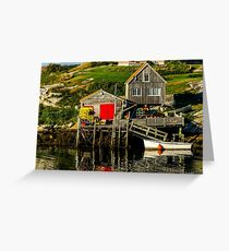 Evening at Peggys Cove Greeting Card