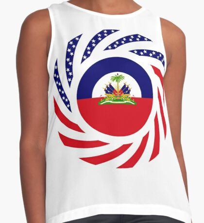 Haitian American Multinational Patriot Flag Series Sleeveless Top