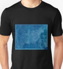 0008 Railroad Maps Map of the United States of America to accompany Doggett's Rail Road Inverted Unisex T-Shirt