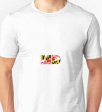 Maryland Flag Abbreviation Unisex T-Shirt