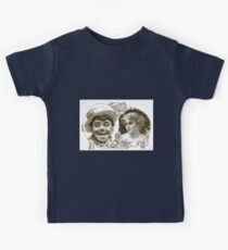 Performing Arts Posters Enlarged image of tramps head and head and shoulders image of woman 1572 Kids Tee
