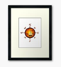 Sailboat And Compass Framed Print