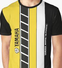 Team Yamaha Black and Yellow Graphic T-Shirt