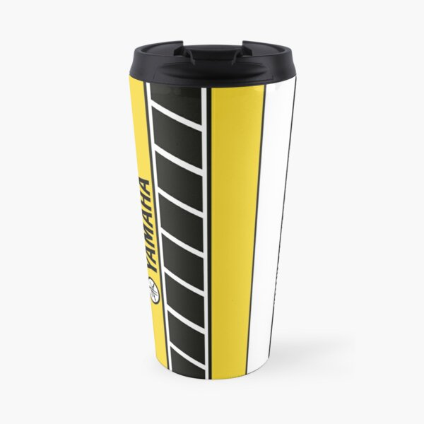 Team Yamaha Black and Yellow Travel Mug