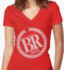 Battle Royale Limited  Women's Fitted V-Neck T-Shirt