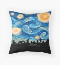 Starry Breakfast Throw Pillow